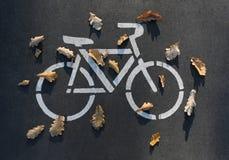 Bici en el pavimento Imagen de archivo libre de regalías