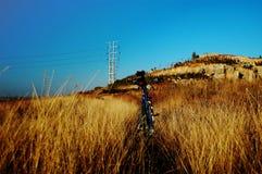 Bici en la hierba Fotografía de archivo libre de regalías