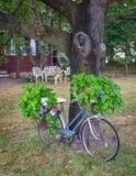 Bici estacionada Imagen de archivo libre de regalías