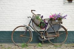 Bici fiorita Fotografia Stock Libera da Diritti