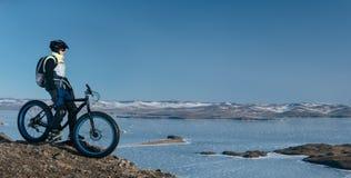 Bici gorda de Fatbike o bici del gordo-neumático Fotografía de archivo