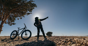 Bici gorda de Fatbike o bici del gordo-neumático Fotos de archivo