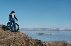 Bici gorda de Fatbike o bici del gordo-neumático Foto de archivo libre de regalías