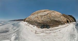 Bici gorda de Fatbike o bici del gordo-neumático Fotos de archivo libres de regalías