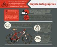 Bici Infographic Ilustración del vector ilustración del vector
