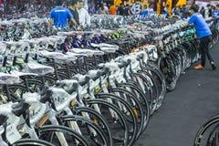 Bici internacional 2017 de Bangkok La expo de ciclo más grande de la bici en Tailandia, la tendencia del ciclo popular y la bici  Fotografía de archivo