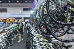 Bici internacional 2017 de Bangkok La expo de ciclo más grande de la bici en Tailandia, la tendencia del ciclo popular y la bici  Imagenes de archivo