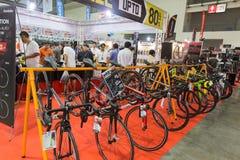 Bici internacional 2017 de Bangkok La expo de ciclo más grande de la bici en Tailandia, la tendencia del ciclo popular y la bici  Foto de archivo