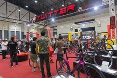 Bici internacional 2017 de Bangkok La expo de ciclo más grande de la bici en Tailandia, la tendencia del ciclo popular y la bici  Imágenes de archivo libres de regalías
