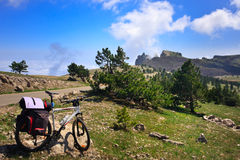 Bici in montagne Fotografia Stock Libera da Diritti