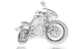 Bici, motocicleta, modelo 3D Imagen de archivo libre de regalías