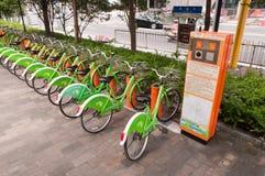 Bici pública Foto de archivo libre de regalías