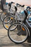 Bici per affitto Fotografie Stock