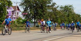Bici per la mamma in Tailandia Fotografie Stock Libere da Diritti