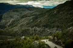 Bici que viaja a los Andes Fotos de archivo libres de regalías