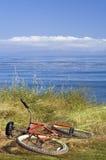 Bici roja Imagen de archivo libre de regalías