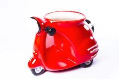 Bici roja de cerámica Fotos de archivo libres de regalías