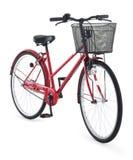 Bici roja de la ciudad imagen de archivo libre de regalías