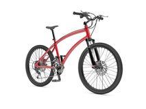 Bici roja de los deportes Fotografía de archivo