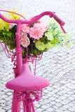 Bici rosada Foto de archivo libre de regalías