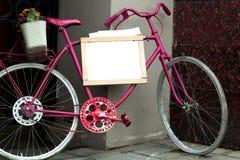 Bici rosada Fotografía de archivo
