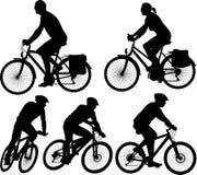 Bici - siluetta di vettore Immagine Stock