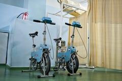 Bici sovietiche per fisioterapia Fotografie Stock Libere da Diritti