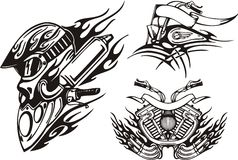 Bici tribali. illustrazione di stock