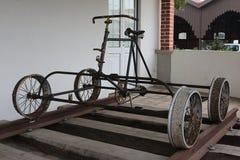 Bici vieja del tren Imagenes de archivo