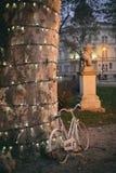 Bici vieja en el parque de Zrinjevac, Zagreb Foto de archivo libre de regalías