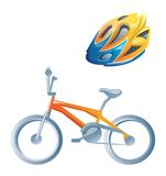 Bici y casco. Libre Illustration