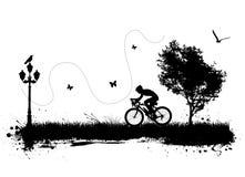 Bici y ciudad Foto de archivo libre de regalías