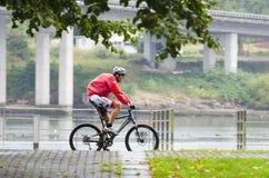 Bici y lluvia Foto de archivo