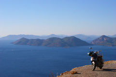 Bici y paisaje Imagen de archivo libre de regalías
