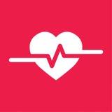 Bicia serca Cardio ekg lub ecg Obrazy Stock