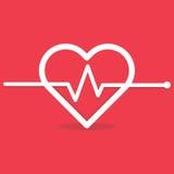Bicia serca Cardio ekg lub ecg Obraz Stock