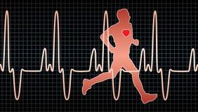 bicia serca mężczyzna bieg ilustracji