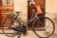Bicicle estacionado Foto de archivo libre de regalías