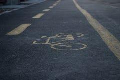 Bicicle lane in the closeup stock photos