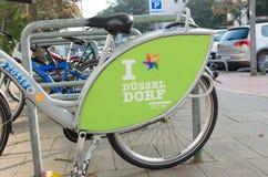 Bicicleta alugado Imagens de Stock Royalty Free