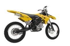 Bicicleta amarela da sujeira Imagem de Stock Royalty Free
