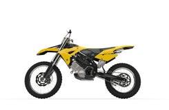 Bicicleta amarela da sujeira - vista lateral Imagem de Stock