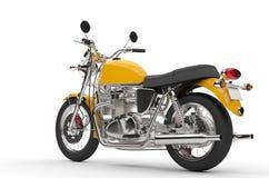 Bicicleta amarela fresca - vista traseira ilustração royalty free