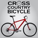 Bicicleta através dos campos Desenho detalhado Objeto isolado Vetor Fotos de Stock