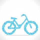 Bicicleta azul ilustração stock