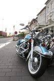 Bicicleta azul clássica Fotos de Stock Royalty Free