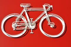 Bicicleta blanca Fotografía de archivo
