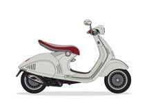 Bicicleta branca do motor do 'trotinette' Imagem de Stock