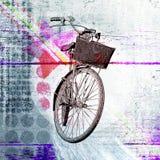 Bicicleta Cartel contemporáneo con los elementos del diseño Fotos de archivo