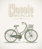 Bicicleta clássica dos ladys ilustração royalty free